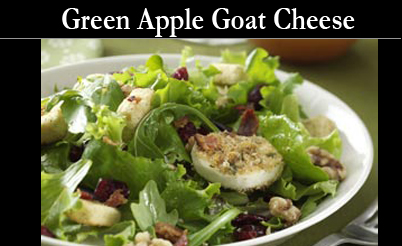 Goat Cheese Green salad Fruit Vinegars