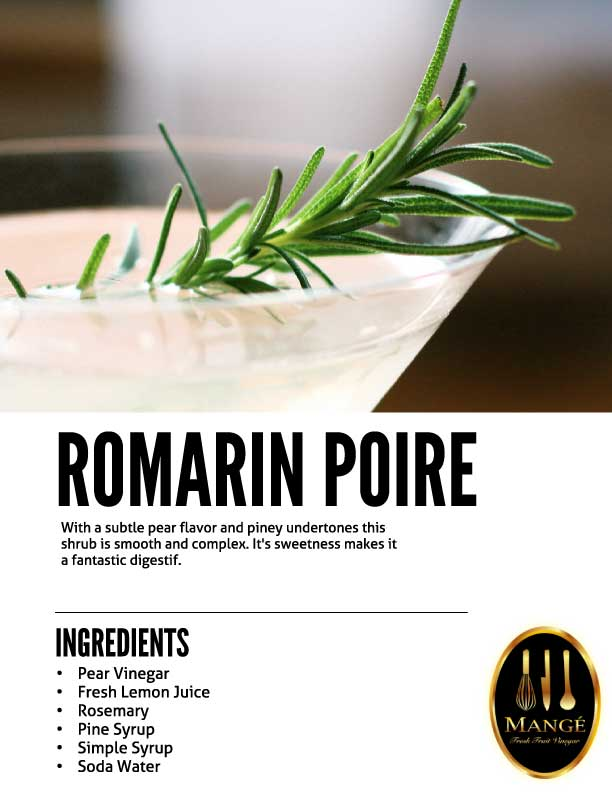 rosemary Shrub Drinking Vinegar