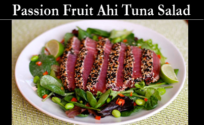 Ahi Tuna Fruit Vinegars